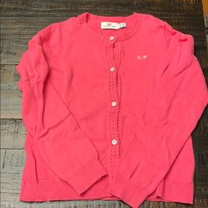 Vineyard Vines girls pink cardigan sweater Sz 5-6